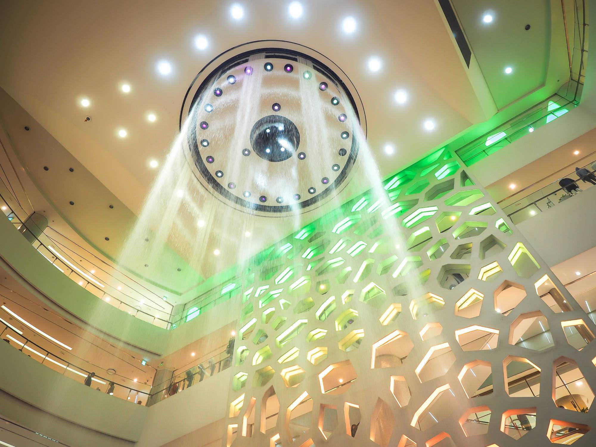 Officially the world's largest indoor musical water fountain show in Lotte Department Store Gwangbokdong